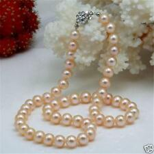 """Beautiful! 7-8mm Pink Real Natural Pearl Necklace 18"""""""