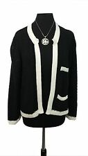 TOPSHOP Open Cardigan Black & White Size 14 Everyday Casual Evening