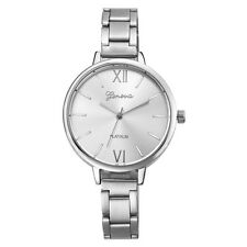 Relojes Mujer Fashion Geneva Watch Women Full Stainless Steel Band Armbanduhr SL