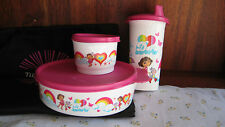 NEW Tupperware girls tumbler & snack & container lunch set Dora pink