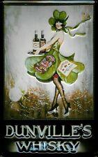 Dunvilles Whisky Blechschild Schild Blech Metall Metal Tin Sign 20 x 30 cm