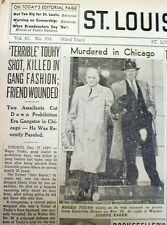 """1959 newspaper Chicago Gangster ROGER """"Terrible"""" TOUHY SHOT DEAD by MOB KILLERS"""