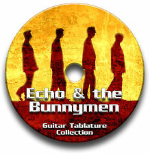 ECHO & THE BUNNYMEN INDIE ROCK GUITAR TABS TABLATURE SONG BOOK SOFTWARE CD
