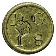 George III quarto Guinea OTTONE MEDAGLIA peso 1.8 D G CROWN countermark