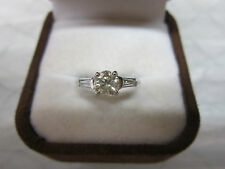 GORGEOUS ESTATE PLATINUM .95 CTW FANCY CHAMPAGNE DIAMOND RING !!!!!!!!