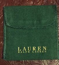 "lauren ralph lauren   Jewelry Pouches Velvet Gift Bag green 4""x4"""