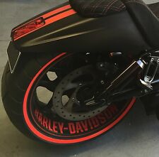 Harley Davidson V rod front and rear wheel decal custom vinyl sticker