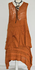 STUNNING SARAH SANTOS  100% COTTON  SKIRT & TUNIC SET  SZ L/XL AMBER