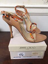 JIMMY CHOO Kitten Orange Miranda shoe size 41 UK8