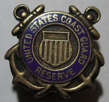 WW2 USCG *Coast Guard* Reserve Sterling / Enamel Pin - Blackinton Maker