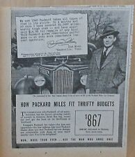 1940 newspaper ad for Packard - Gus Moss of Nashville TN, Fits Thrifty Budgets