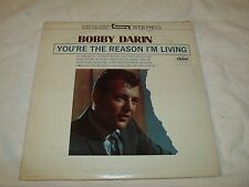 """1963 VG+/VG Bobby Darin """"You're the Reason I'm Living"""" Capitol Stereo LP ST 1866"""
