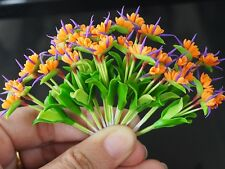 12 Miniature Handmade Clay Bird of Paradise Flowers Home Decorative Collectible