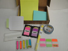 4 Sets Post-it 3M Scotch Note Tabs Flags Highlighter Office School Book Marker