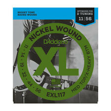 D'Addario EXL117 Nickel Wound Electric Guitar Strings, Medium Top/Extra-Heavy Bo