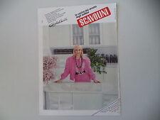 advertising Pubblicità 1985 CUCINA SCAVOLINI e RAFFAELLA CARRA'