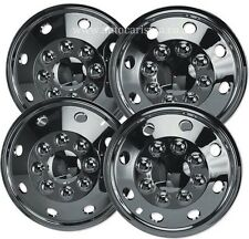"Motorhome Wheel Trims 16"" Chrome American Style Hub Caps X 4 RV Van Deep Dish"