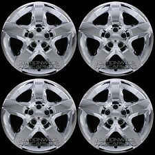 "4 New CHROME 07-12 MALIBU G6 AURA 17"" Bolt On Hub Caps 5 Spoke Rim Wheel Covers"