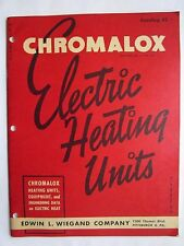 VINTAGE 1947 CHROMALOX ELECTRIC HEATING UNITS / HEATER, HOTPLATE,64 PAGE CATALOG