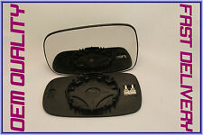 --RENAULT SCENIC mk2 2003-2009 WING MIRROR GLASS CONVEX HEATED LEFT H/S
