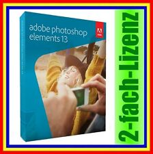 Adobe Photoshop Elements 13 VOLLVERSION DEUTSCH NEU DVD inkl. Zweitnutzungsrecht