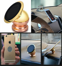Gold 360° Magnetic Car Mount Sticky Stand Mobile Cell Phone Holder GPS For FORD