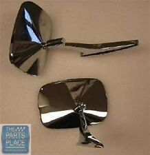 1968-72 Chevrolet Nova Stock Rectangular Chrome Mirror Set