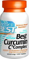 Best Curcumin C3 Complex with BioPerine, 1000mg, 120 tablets, Doctor's Best