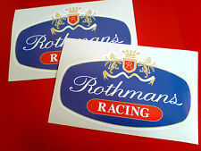 Rothmans (rojo) Racing Race Rally Motorsport Stickers Calcomanías 2 frente a 125 mm