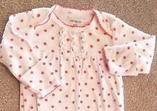 SWEET! CARTER'S ONE SIZE/NEWBORN RED & WHITE FLORAL SLEEP GOWN REBORN
