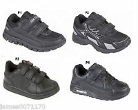 Boys trainers Girls velcro fastening kids running School shoes  10 11 12 13 1 2
