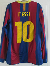 Barcelona 2010-2011 Home Messi 10 Football Shirt long sleeve Adult Small  /39368