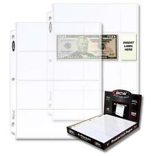 2 Boxes 200 BCW 4 Pocket Pages Currency Coupon Storage Holders Sheets