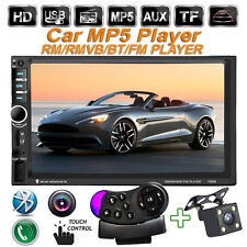 "7"" In Dash Car Stereo MP5 MP3 Player Bluetooth FM +Camera+Steering wheel remote"