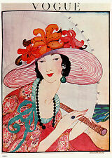 Vintage Vogue Helen Dryden Hat Poster Art Print