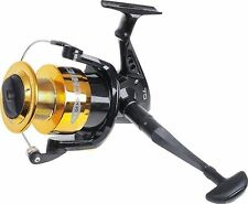 Big Fixed Spool Sea Fishing Reel Beach Caster Large 70 Size Boat Pier Gold/Black