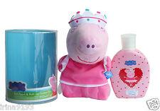 Peppa Pig marioneta de baño de baño y gel de ducha 250 Ml Nuevo Conjunto de Regalo De Navidad