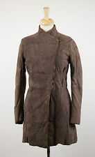 NWT BRUNELLO CUCINELLI Brown Suede Down Filled Full Length Jacket 4/40 $6745