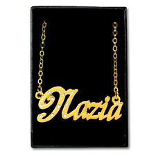 Gold Plated Name Necklace - NAZIA - Gift Ideas For Her - Crystal Girlfriend