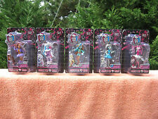 "Lot Of All 5 Monster High Scary Cute Valentine's 3"" Figures 2015~New"