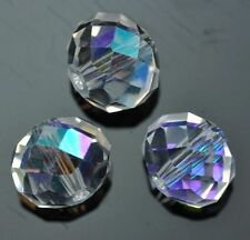Faceted Rondelle Cut Glass Crystals Beads Size 4mm 6mm 8mm 10mm 12mm for Craft