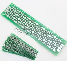 10PCS 2X8cm Double-side Protoboard Circuit Universal DIY Prototype PCB Board NEW