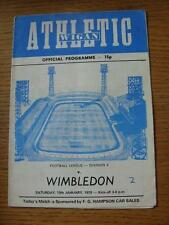13/01/1979 Wigan Athletic v Wimbledon [1st League Season] (Creased, Folded, Scor