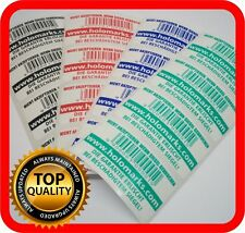 Free custom print! 150 Security labels, void warranty tamper seals 50x25mm