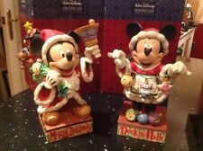 "set of 2 disney traditions 'Mr & Mrs Claus'xmas '  large 8.5"" rare!"