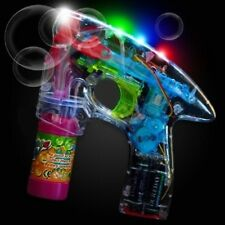 24 Pcs LOT LED Bubble Gun Flashing Light Up Bubble Blaster Blower WHOLESALE BULK
