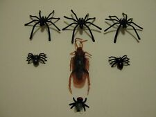 Spider 2 Types Fake Fly cockroach Joke Prank Plastic Rubber Trick fake insect