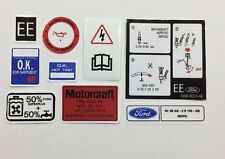 Ford Escort MK3 XR3i Engine Bay Decals - best and cheapest