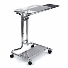 Calico Designs 51201 Laptop Cart with Mouse Tray in Chrome and Clear Glass NIB