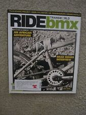 Ride Bmx Magazine January 2008 Brad Simms Taj Nigel Sylvester Dave Mirra